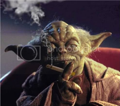 Yoda Smoking